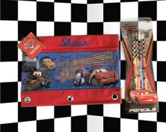 Disney PIXAR CARS 3 Ring Pencil Case Pouch - Monogrammed