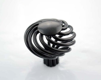 French provincial black birdcage kitchen Cabinet knob Cupboard drawer handle 40mm