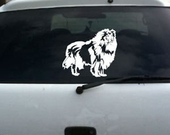 Rough Collie Dog Vinyl Decal Sm © 2013 Laced Up Decals SKU:Rough Collie Dog Large