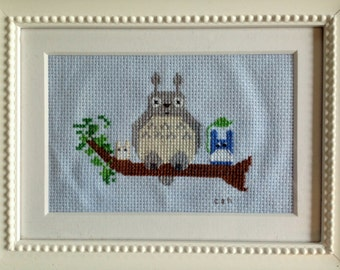Totoro and friends cross stitch pattern