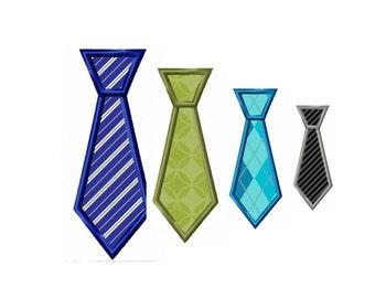 Applique Machine Embroidery DESIGN N0. 60.....Necktie.....4 Sizes