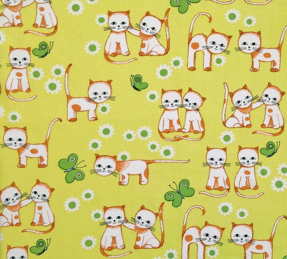 Retro vintage 70s childrens fabric for Vintage childrens fabric