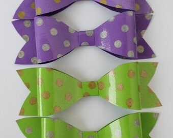 Cute and Unique Paper Bow, Fancy Gift Wrap, Card stock paper Bow, paper dimensional bow, Bow tie.