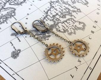 Gear Charm Earrings