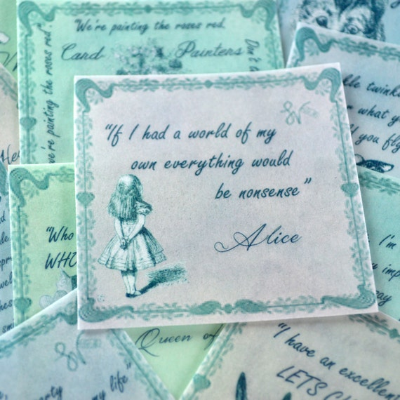 Soft Quotes Cool Edible Alice In Wonderland Quotes Soft Pastel Colours 12 Wafer