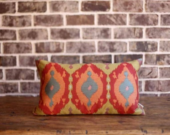 Designer Flame Stictch Pillow Cover | Multi-colored