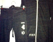 FTLA Ladies' Eco-Jersey Crop/Capri Pants - I Heart Paw