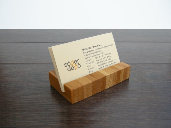 Business Card Holder Bamboo Business Card Holder By Magowood