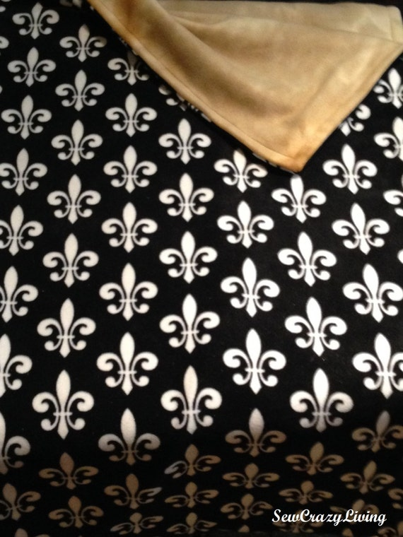 Custom Fleur de Lis Fleece Blanket