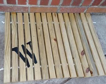 Wooden Pine Door Mat 24 Quot X18 Quot Choose Your Finish Front