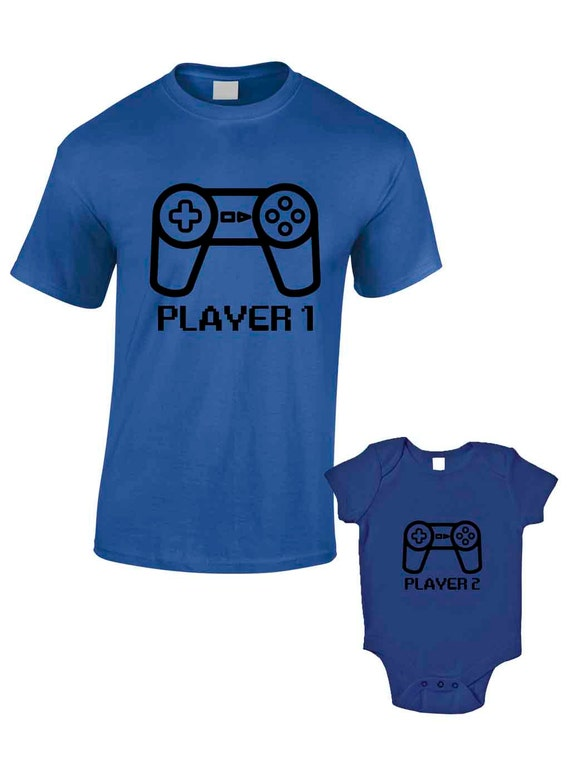 Player 1 Player 2 T Shirts Or Baby Grow Matching Father