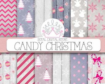 CHRISTMAS DIGITAL PAPER Pack, christmas scrapbook paper, christmas digital download for digital scrapbooking, xmas card making