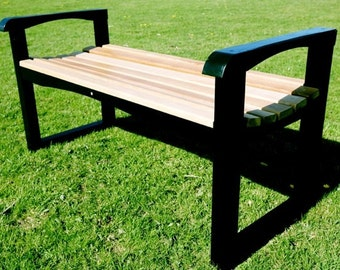 Backless garden bench