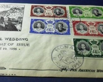 1956 First Day Cover - Marriage of Grace Kelly and Rainier of Monaco