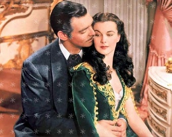 Clark Gable & Vivien Leigh Gone with the Wind Collage Fabric Art Quilt Block GWTW16- FREE SHIPPING