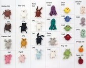 Create Your Own Miniature Crochet Amigurumi Critter Magnet Set of Four!