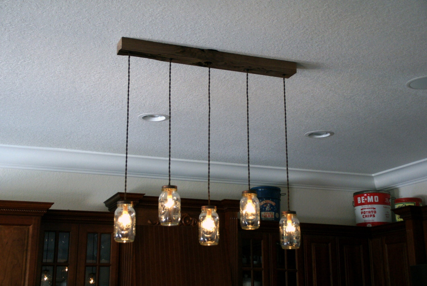 5 light diy mason jar chandelier rustic wood chandelier