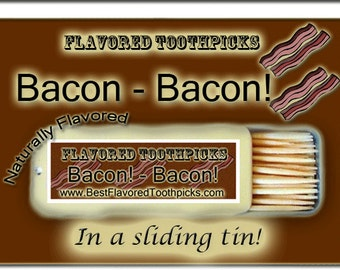 Bacon Flavored Toothpicks - 70+ Flavors! 4th of July, Fourth of July, July 4th, Independence Day, Patriot, Patriotic, Holiday, Summer