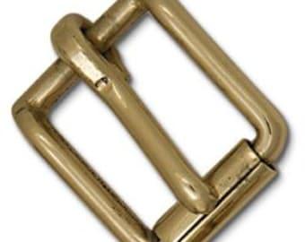 "Roller Strap Buckle 1"" Solid Brass 11554-04"