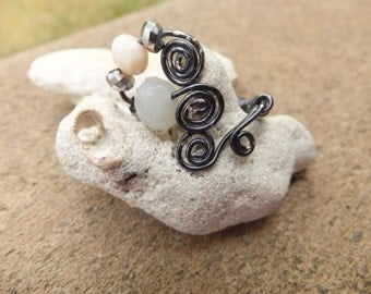 Handmade Hematite Wire Wrapped Ring