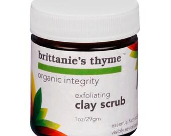 Exfoliating Clay Facial Scrub, Gluten Free