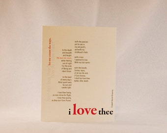 How do I love thee? Let me count the ways…