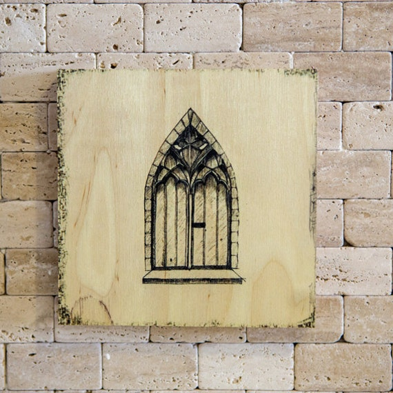 Black Gate Wall Decor : Items similar to wall art decor black old gothic