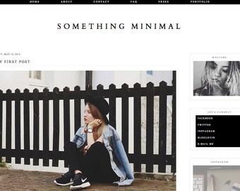 "Blogger Template ""Something Minimal"" / Instant Digital Download Premade Blog Theme Design"