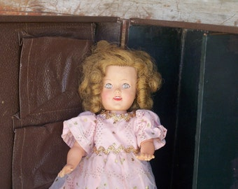 Shirley Temple Doll Collectible Vintage 1960s Child Movie Actress Eyes