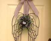 Beautiful metal angel wings door or wall arrangement
