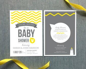 Neutral Baby Shower Invitation - Digital File