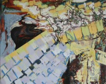 Spring Garden 20x24 abstract on oil