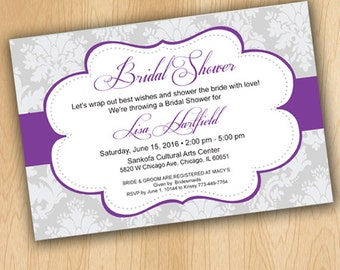 Classic Bridal Shower Invitation