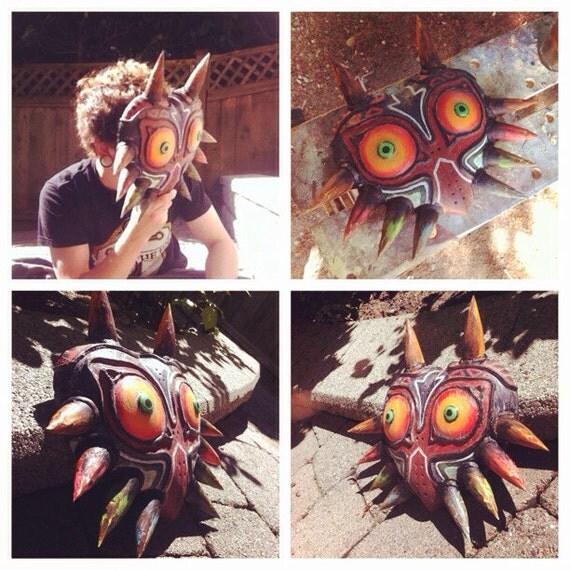 The Legend of Zelda: réplica de máscara de Majora de madera