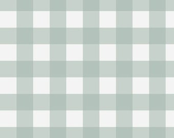 Spa Buffalo Check Fabric - Cotton Upholstery Fabric - Upholstery Fabric By The Yard - Buffalo Check