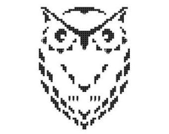 Owl Silhouette, Animal Silhouette Pattern, Cross Stitch Birds Pattern, Silhouettes, PDF - PATTERN ONLY