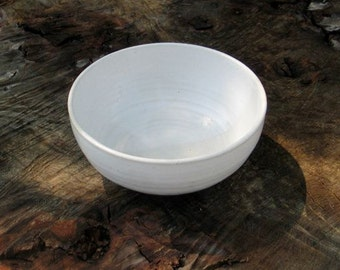 Dessert Bowl. Deep plate. Cup dessert, soup, salad. Pottery Bowl. Breakfast cereal. Ceramic Cup.