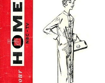 NBC-TV Home Pattern No. 10 Distinguished Dress 1950's / SZ12 Factory Folds