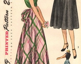 "Simplicity 2024 Work of Art ""Bustled"" Daytime & Evening Skirt / ca. 1947 / WAIST24 UNCUT"