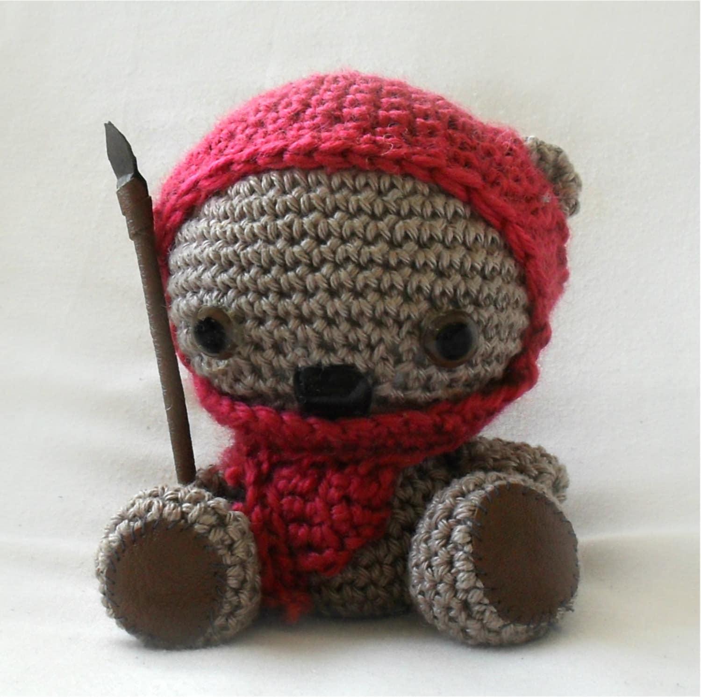 Ewok Teddy Bear Crochet Amigurumi Pattern
