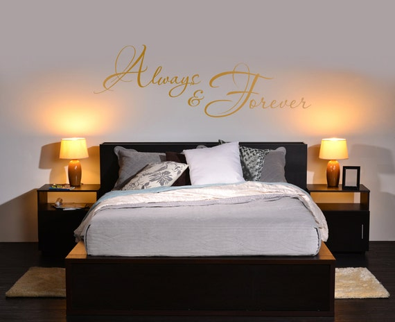 adults romantic bedroom wall vinyl decal quote or art sticker. Black Bedroom Furniture Sets. Home Design Ideas
