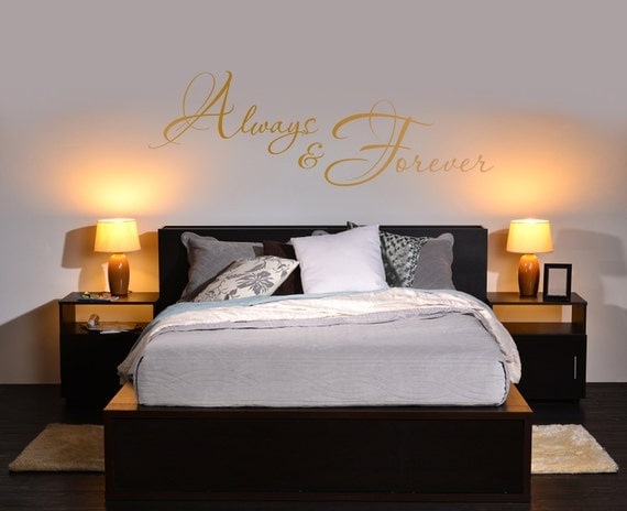 adulte romantique chambre mur vinyle autocollant citation ou. Black Bedroom Furniture Sets. Home Design Ideas