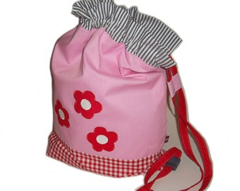Gym bags floral gingham laundry bags