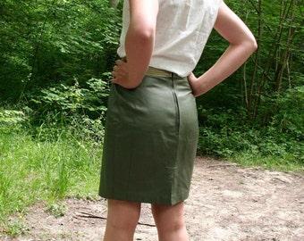 TAKINE - Skirt leather vintage 80s - T36