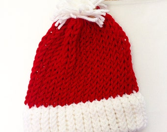 Knitted, Santa Baby Hat