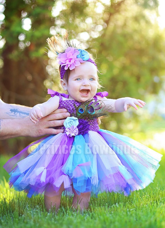 Peacock Flower Girl Dressinfant Girl Flower Dress Peacock