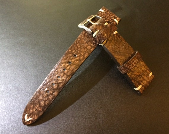 Ostrich leg Leather Vintage Rolex Strap 20mm - 100% handmade, Rare, hard to find, Best Quality and Deal Guarantee!!