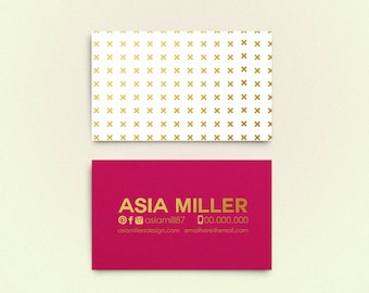 SALE Asia double sided business card - Instant download