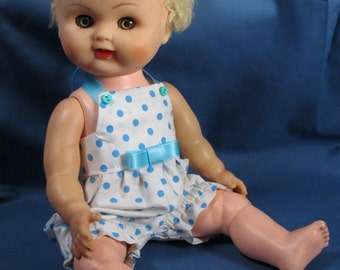 Vintage 1960s Blonde Baby Doll - 12 inches tall