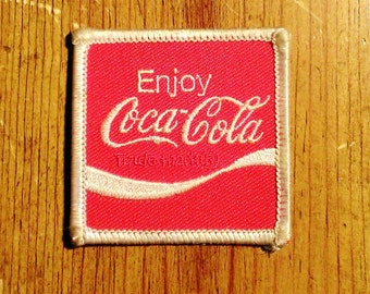 Vintage 1970's ''Enjoy Coca Cola'' Embroidered Patch 2'' X 2''
